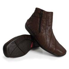 Beli Gino Mariani Men S Shoes Elario 1 Leather Coklat Tua Seken