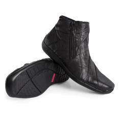 Spesifikasi Gino Mariani Men S Shoes Elario 1 Leather Hitam Bagus