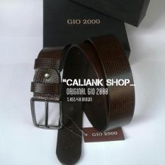 Berapa Harga Gio 2000 Ikat Pinggang Kulit Original Belt G S 092 40 Brown Gio 2000 Di Dki Jakarta