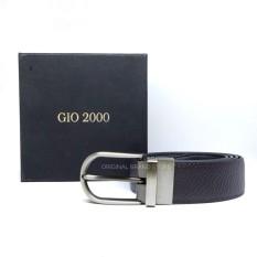 Gio 2000 Original - Gesper Sabuk Pria - Ikat Pinggang Kulit Pria - G23 Bolak balik