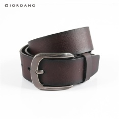 Giordano Men Basic Sabuk Kulit 75132521 Brown-Intl