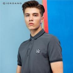 Spesifikasi Giordano Pria Lion Bordir Polo Shirt 01016242 Grey Murah Berkualitas