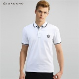 Tips Beli Giordano Pria Lion Bordir Polo Shirt 01016242 Putih Internasional