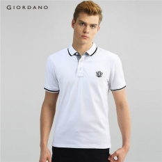 Giordano Pria Lion Bordir Polo Shirt 01016242 Putih-Internasional