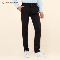 Giordano Men Low-rise Meruncing Khakis 01110583 Hitam-Internasional