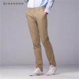 Review Toko Giordano Men Low Rise Meruncing Khakis 01110583 Khaki Intl