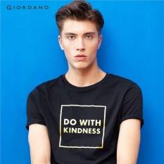 Harga Giordano Men Printed Slogan Tee 98097201 Hitam Terbaik