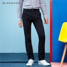 Giordano Pria Solid Cotton Skinny Pants 01117074 Hitam-Intl