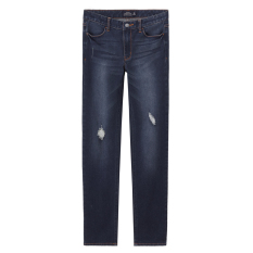 Giordano Sederhana Celana Keelastikan Ramping Jeans (81 Biru Tua)