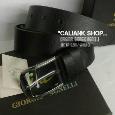 Obral Giorgio Agnelli Belt Ga S 201 40 Black Ikat Pinggang Kulit Original Murah