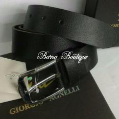 Giorgio Agnelli Belt Ga S 201 40 Black Ikat Pinggang Kulit Original Asli