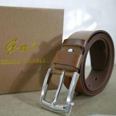 Giorgio Agnelli Belt Original - Ikat Pinggang Kulit Fashion Pria Kulit Asli - GA-777 Coklat