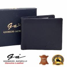Giorgio Agnelli Dompet Kulit Pria model Tidur / Horizontal Hitam ( GA MIL )