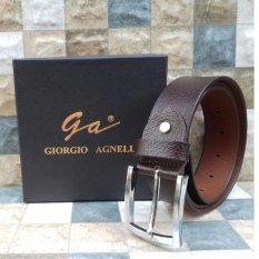 Giorgio Agnelli - Ikat Pinggang Kulit - Coklat tua - Asli ORIGINAL