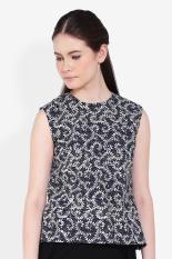 Batik Giriestra  Women Clothing Tops Blouses & Shirts  Wanita Busana Atasan Blus & Kemeja Black Hitam Batik Diskon discount murah bazaar baju celana fashion brand branded