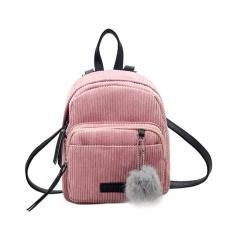 Toko Gadis Kecil Mini Backpack Wanita Fur Ball Winter Velvet Sch**l Shoulder Bag Pink Intl Domybestshop Online