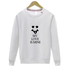 Perempuan 'S Sweater Kaus EU Gaya Smile Wajah Sweater Kaus Panjang Lengan Kemeja-Internasional