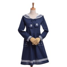 Beli Girls Anchor Sailor Suit Dress Cute Cat Uniform Navy Intl Oem Asli