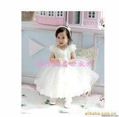 Gadis Gaun Korea Musim Panas Baru Besar Renda Bunga Putri Gaun Anak Tari Pertunjukan Grosir Gaun-Internasional