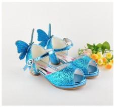 Perempuan Tinggi Heel Sandal Anak Putri Sandal Frozen Kristal Sepatu Gadis Kecil Baru Musim Panas-Internasional