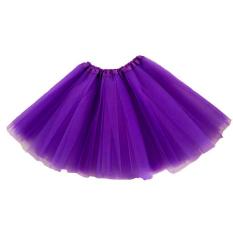 Anak Perempuan Tutu Pesta Balet Dansa Pakaian Gaun Rok Pettiskirt Kostum Ungu