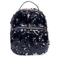 Beli Girls Mini Pu Sequins Princess Bling Sch**l Backpack Black Intl Online Terpercaya