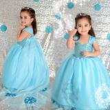 Harga Baju Anak Perempuan Putri Mengenakan Pakaian Pernikahan Pakaian Pesta Kostum Kasual Biru Internasional Murah