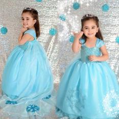 Harga Baju Anak Perempuan Putri Mengenakan Pakaian Pernikahan Pakaian Pesta Kostum Kasual Biru Internasional Terbaru