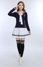 Beli Baju Pelaut Anak Sekolah Jk Baju Gaun Lengan Panjang Seragam Kemeja Biru Tua Coklat And Putih Rok International Di Tiongkok
