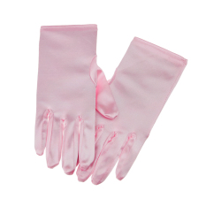 Beli Girls Satin Full Fingered Formal Princess Dress Wedding Party Gloves For Flower G*rl Pink Intl Pake Kartu Kredit