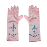 Girls Satin Full Fingered Formal Princess Dress Wedding Party Gloves For Flower G*rl Pink Pattern Intl Oem Diskon 30