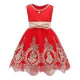 Jual Gadis Tanpa Lengan Gaun Musim Panas Anak Partai Putri Anak Perempuan Renda Gaun A Line Bordir Bunga Gaun L17180 Merah Intl Online Di Tiongkok