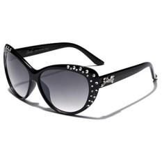 Giselle Kids AGE 6-14 Rhinestone Cat Eye Sunglasses - Black