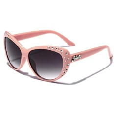 Giselle Kids AGE 6-14 Rhinestone Cat Eye Sunglasses - Pink