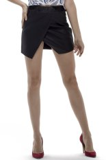 Katalog Glamorous Asymmetrical Skirt Hitam Terbaru