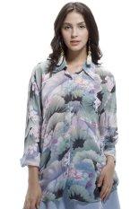 Toko Glamorous Button Down Shirt Hijau Water Lily Lengkap Indonesia
