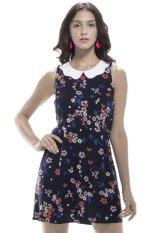 Review Pada Glamorous Peter Pan Collar Dress Multicolor