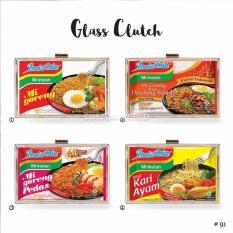 Glass clutch / acrylic clutch / tas pesta list plastik katalog Indomie