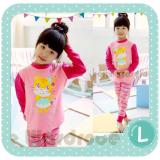 Spesifikasi Gleoite Wardrobe Piyama Anak Perempuan Kitty Pink Murah Berkualitas