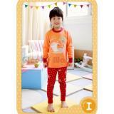 Dapatkan Segera Gleoite Wardrobe Piyama Picnic Time Orange