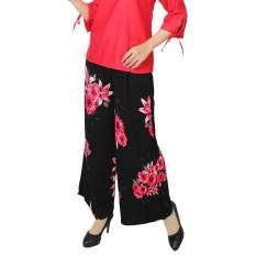 GLM - Celana  Kulot - Big size Kulot Panjang - Sun Flower Hitam