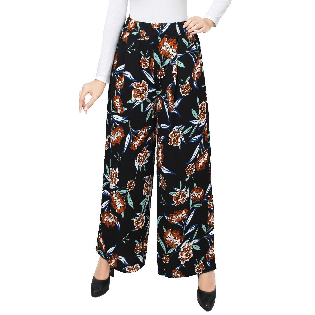 Penjualan GLM - Celana Kulot - Kulot Basic Panjang - Mawar Hitam terbaik murah - Hanya Rp73.668