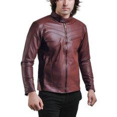 Jual Global Jaket Kulit Pria Andrew Cokelat Global Branded