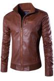 Toko Global Jaket Kulit Pria Bk 75 Cokelat Online