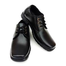 Globy 409 - Sepatu Pantofel Anak Laki-Laki Hitam Bertali - Sepatu Formal Anak Laki-Laki Hitam Tali - Sepatu Sekolah Anak Laki-Laki Hitam Temali
