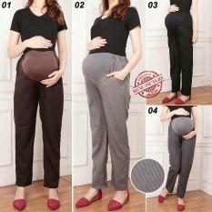 Glow Fashion Celana hamil panjang wanita jumbo long pant Laura
