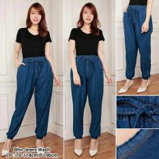 Glow Fashion Celana joger jeans panjang wanita jumbo long pant Sinta