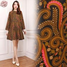 Glow Fashion Dress maxi pendek atasan blouse long tunik kemeja batik wanita jumbo shirt mini dress Salsa M – XL