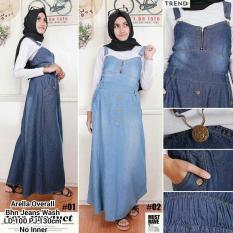 Rp 122.800. Glow fashion Dress overall jeans panjang wanita jumbo long dress jumpsuit SicaIDR122800