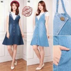 Jual Glow Fashion Jumpsuit Overall Dress Pendek Wanita Jumbo Short Dress Kelli Dress Midi Online